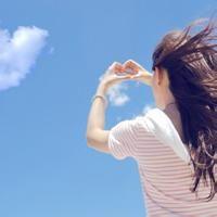 天空的女生头像,仰望天空 代表我想着你