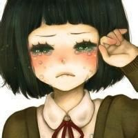 qq女生流泪头像卡通版,不是真爱 怎么会留眼泪 www.maixiou.com